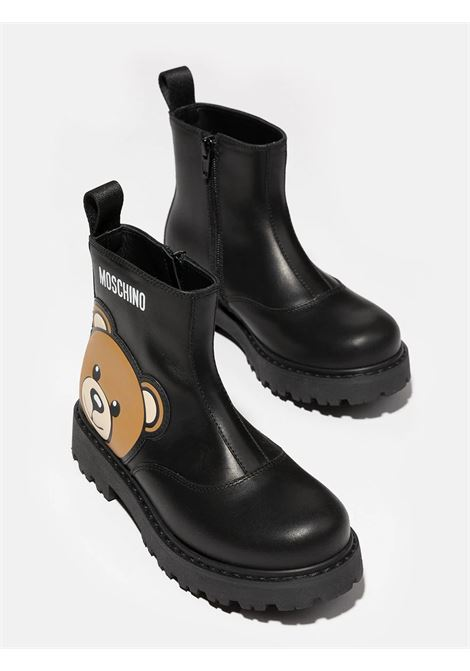 Teddy ankle boots with logo MOSCHINO KIDS | 689251