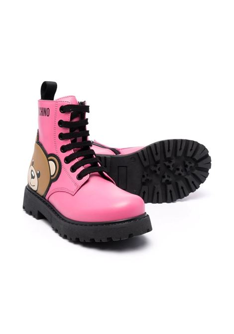 Teddy Bear lace-up boots MOSCHINO KIDS | 689263