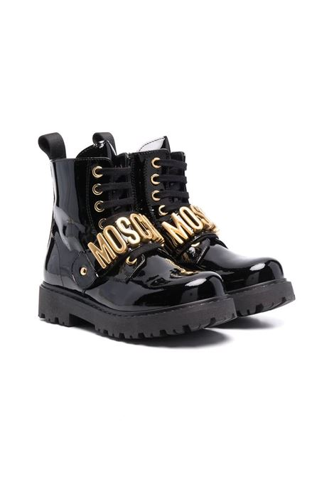 Boots with logo MOSCHINO KIDS | 689301