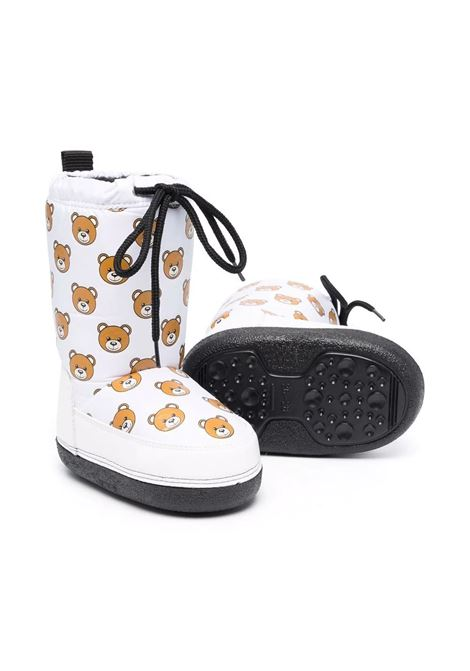 Snow boots with Teddy Bear print MOSCHINO KIDS | 689371