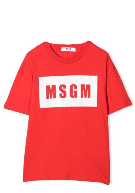 T-shirt con stampa MSGM KIDS | MS027669T040