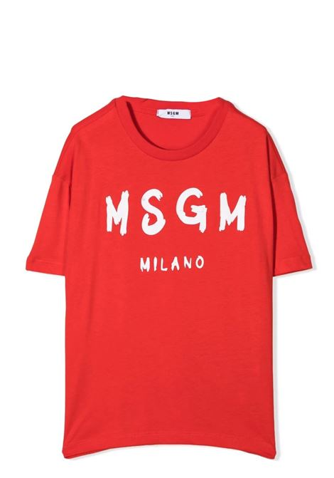 T-shirt con stampa MSGM KIDS | MS027671040