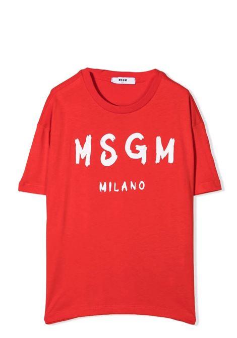 T-shirt con stampa MSGM KIDS | MS027671T040