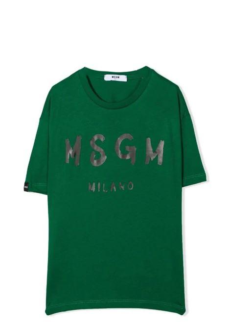 T-shirt con stampa MSGM KIDS | MS027671T088