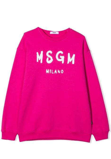 Felpa con stampa MSGM KIDS | MS027672044