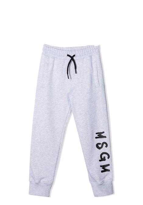 Pantaloni sportivi con stampa MSGM KIDS | MS027679107