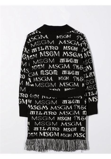 Cardigan con stampe MSGM KIDS | MS027796110