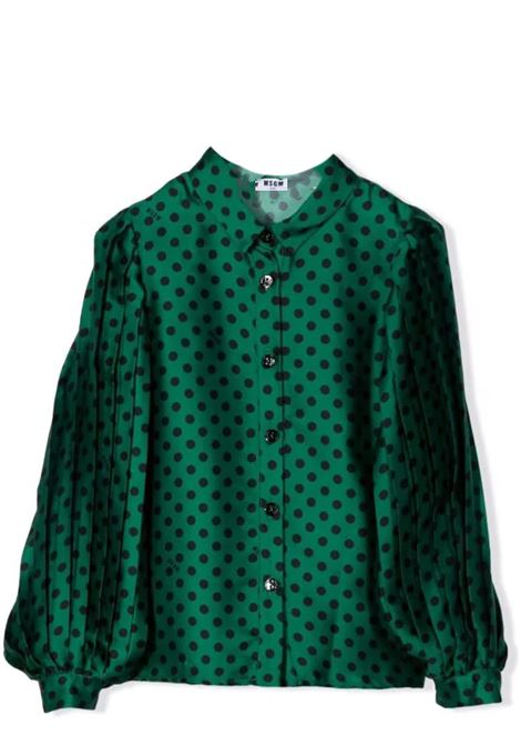 Polka dot shirt MSGM KIDS | MS027806080