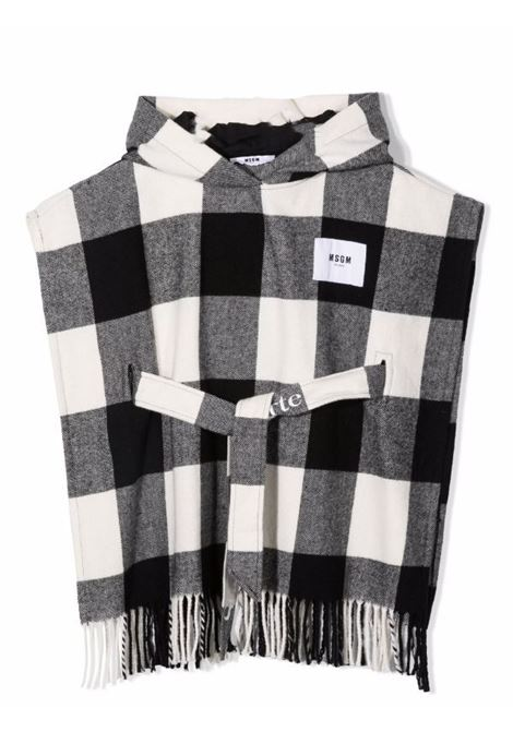 Checkered cape MSGM KIDS | MS027857200