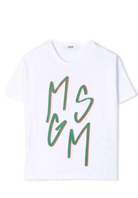 T-shirt con stampa MSGM KIDS | MS027864001