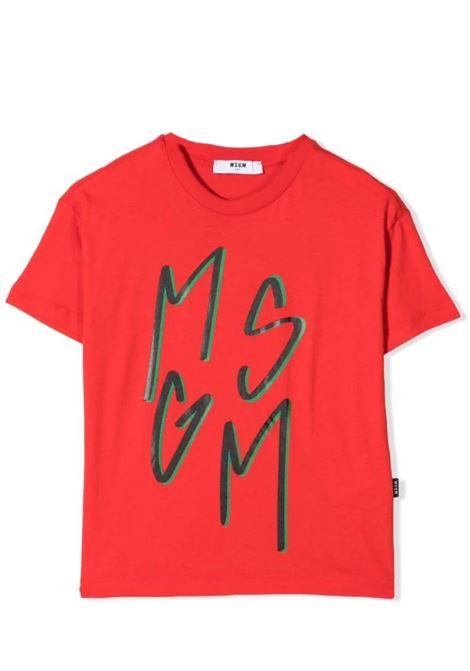 T-shirt con stampa MSGM KIDS | MS027864040