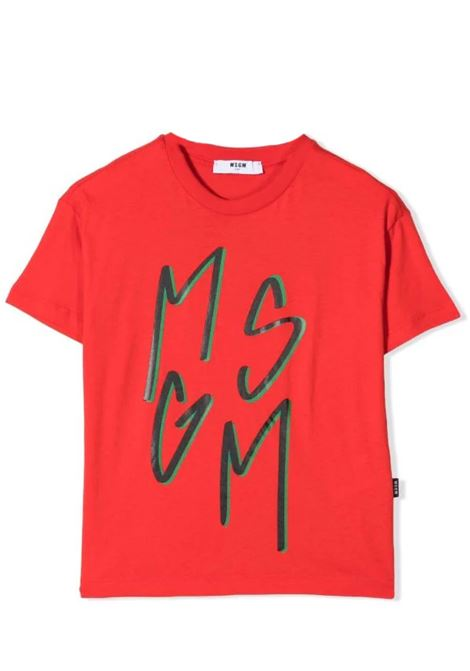 T-shirt con stampa MSGM KIDS | MS027864T040