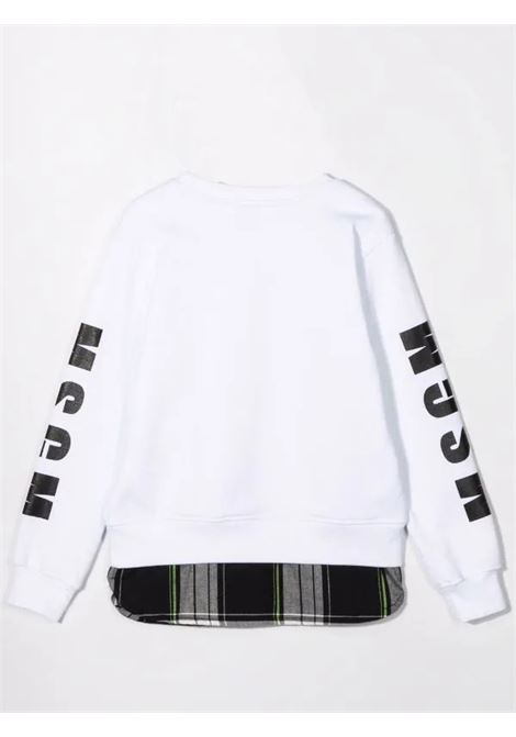 Logo-print crew neck sweatshirt MSGM KIDS | MS027893001
