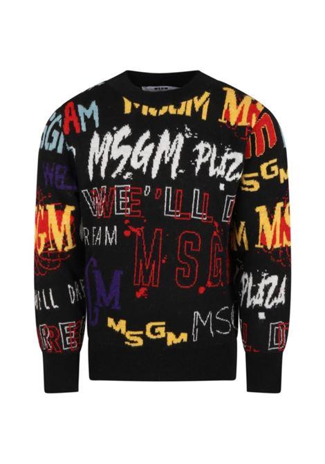 Maglione con logo MSGM KIDS | MS027923200