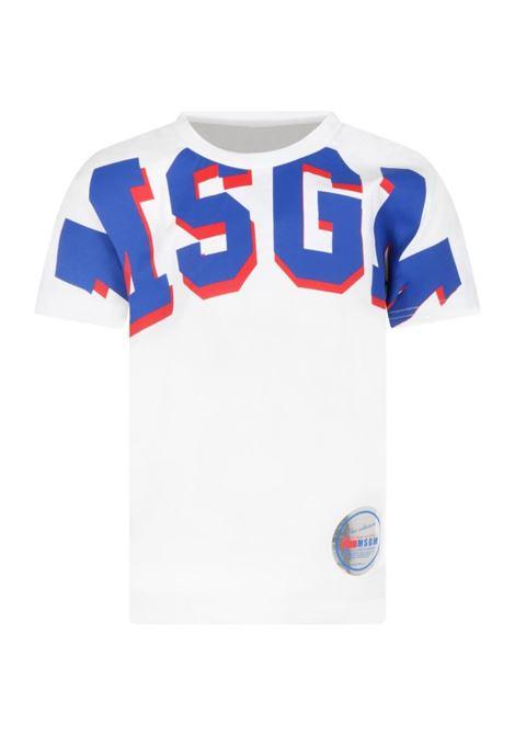 T-shirt con stampa MSGM KIDS | MS027957001