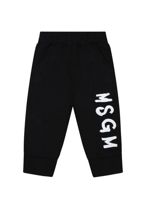 Pantaloni sportivi con stampa MSGM KIDS | MS028714110