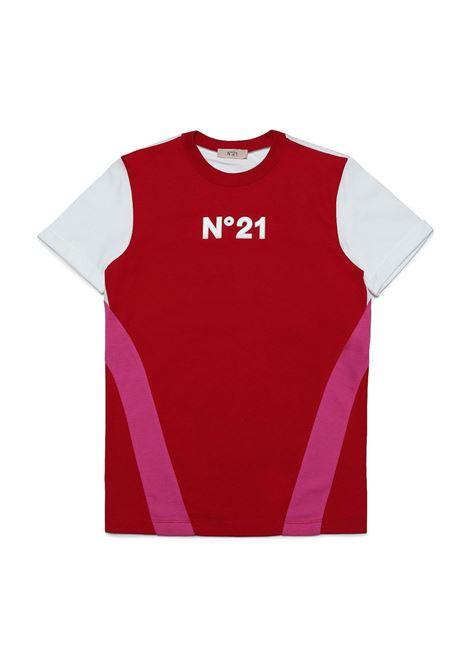 T-shirt with color-block design N°21 KIDS | N21122 N0153T0N404