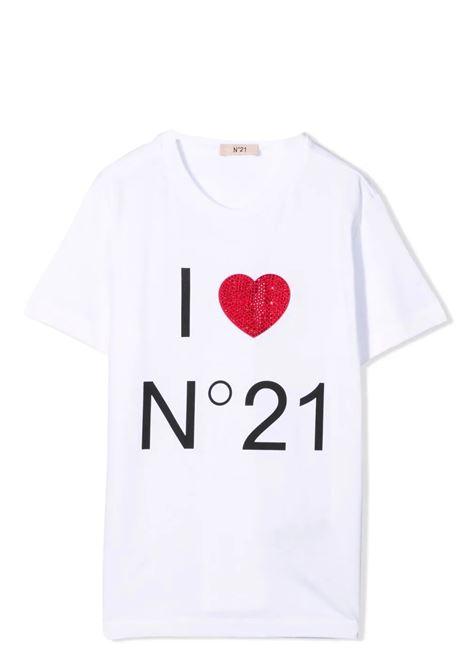 T-shirt with decoration N°21 KIDS | N21124 N0153TN0100