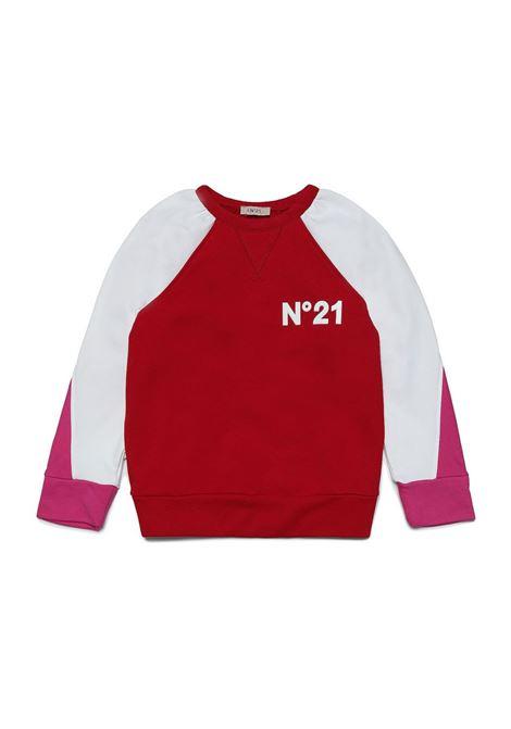 Sweatshirt with color-block design N°21 KIDS | N21128 N01790N404