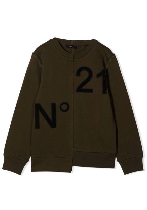 Sweatshirt with application N°21 KIDS | N21180 N00050N502
