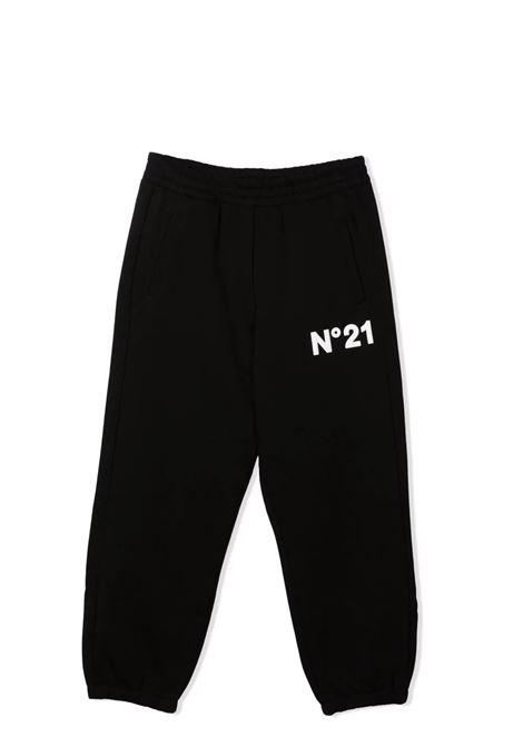 Embossed sports trousers N°21 KIDS | N21186 N01790N900