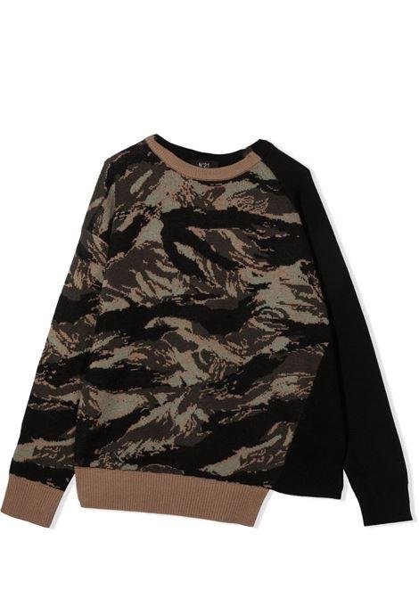 Sweater with inlay N°21 KIDS | N21195 N0181T0N504