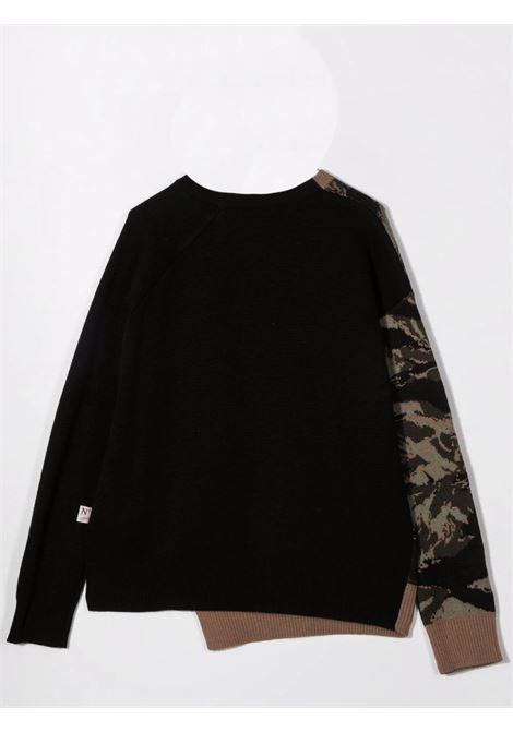Sweater with inlay N°21 KIDS | N21195 N1810N504