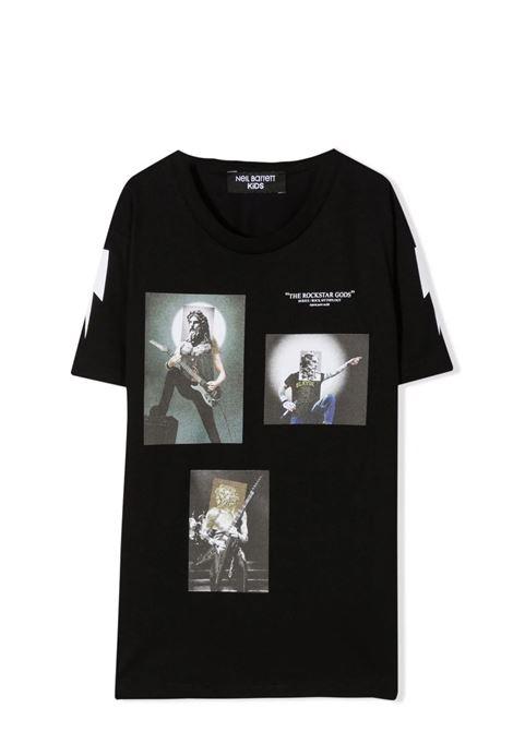 The Rockstar God printed T-shirt NEIL BARRETT KIDS | 028929110