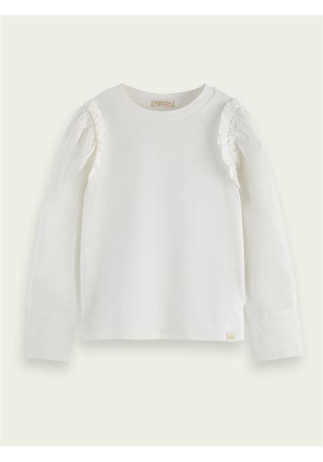 T-shirt con rouches SCOTCH & SODA KIDS   163019T0001