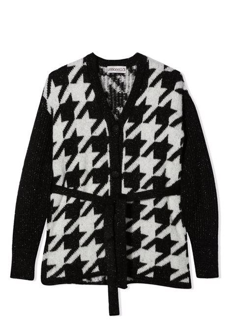 Houndstooth motif cardigan SIMONETTA | 1P9060 W0046930AG