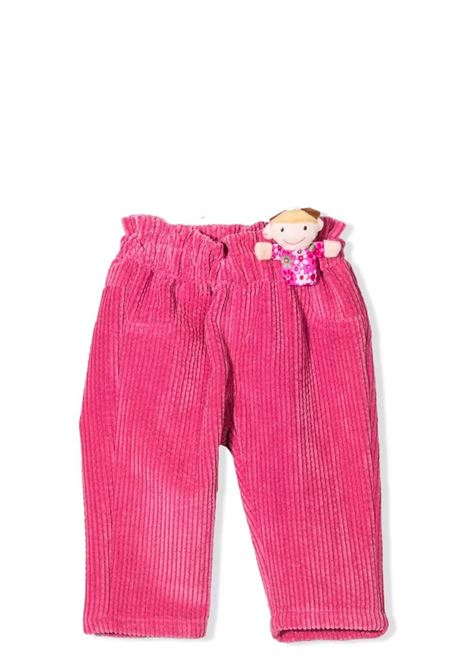 Ribbed trousers with application U+E' BY MISS GRANT | UE011303
