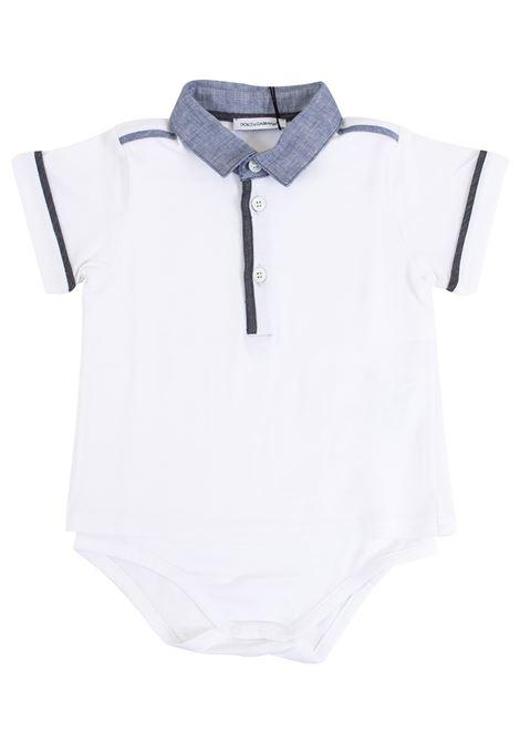 Tutina neonato con colletto DOLCE & GABBANA KIDS | Body | L1JOG1 G7GCWS90000