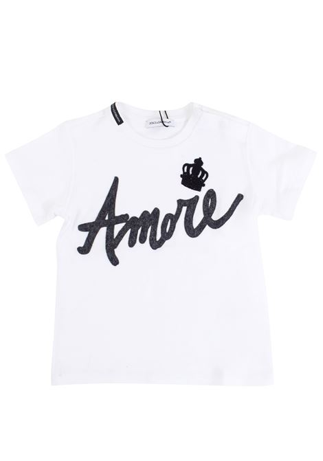 T-shirt neonato con applicazione DOLCE & GABBANA KIDS | T-shirt | L1JT4ED G7IPPW0800