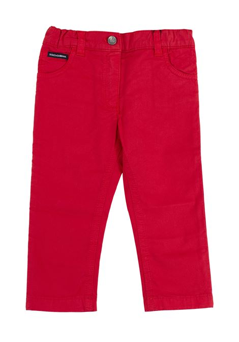Newborn trousers DOLCE & GABBANA KIDS | Trousers | L11F25 LY033R2254