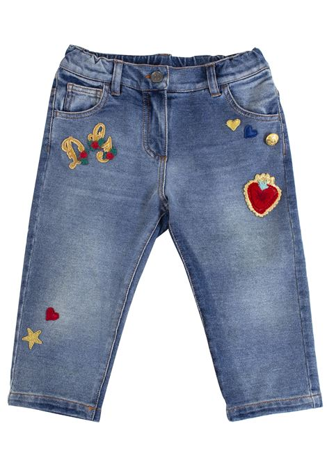 Newborn trousers with patch DOLCE & GABBANA KIDS | Trousers | L2JP3D G7LPWS9050