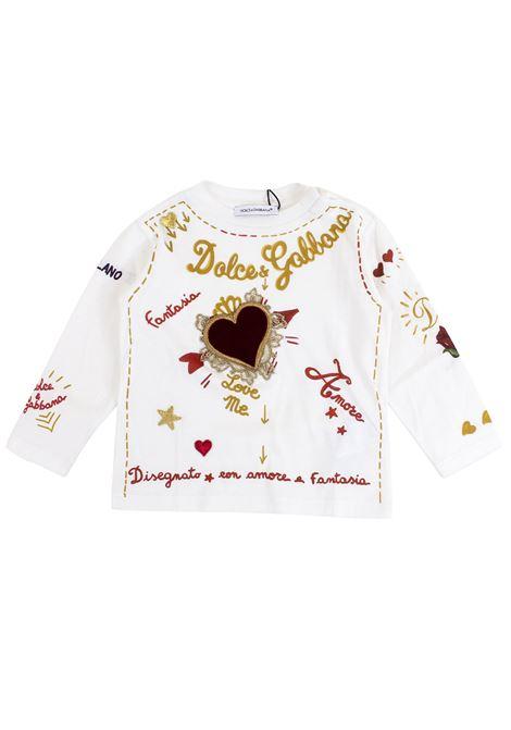T-shirt neonata con patch DOLCE & GABBANA KIDS | T-shirt | L2JT8R G7LQDHWF48