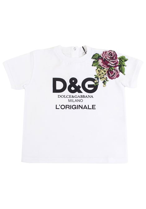 T-shirt neonata con patch DOLCE & GABBANA KIDS | T-shirt | L2JT9E G7LYSHWF99