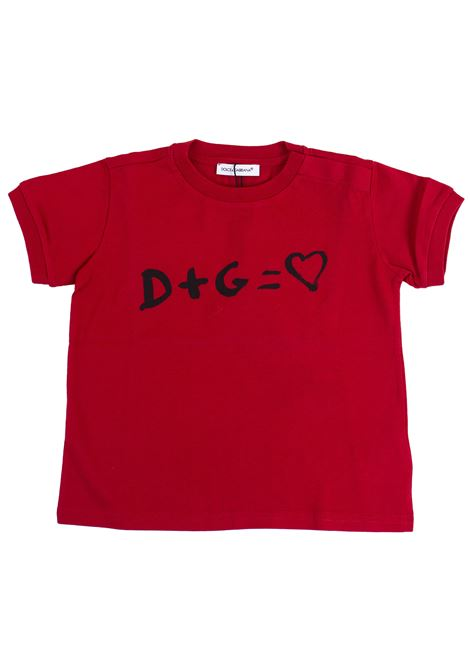 Newborn T-shirt with print DOLCE & GABBANA KIDS | T-shirt | L2JT9Z G7NJGR0026