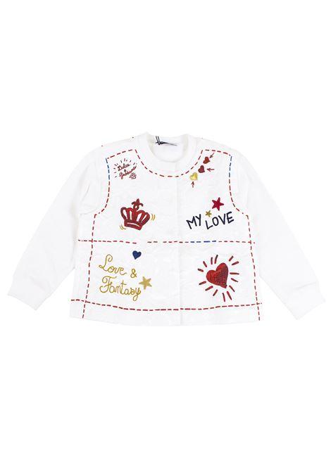 Felpa neonata con applicazioni DOLCE & GABBANA KIDS | Felpe | L2JWM4 G7LQCHWF48