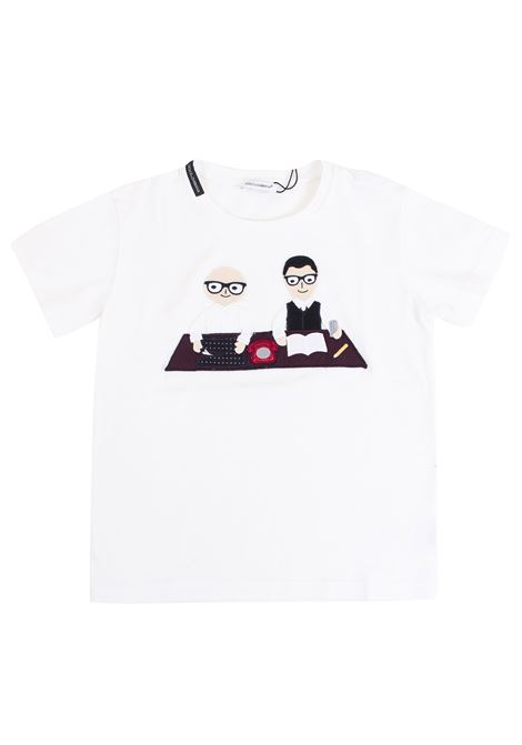 T-shirt child with application DOLCE & GABBANA KIDS | T-shirt | L4JT1W G7IISW0800