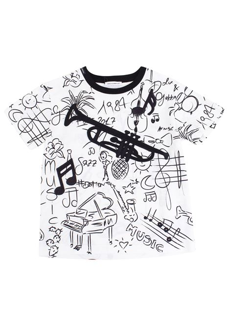 Fancy baby t-shirt DOLCE & GABBANA KIDS   T-shirt   L4JT4J G7JIRHW641