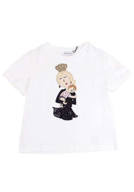 T-shirt bambina con patch DOLCE & GABBANA KIDS | T-shirt | L5JT4N G7IROW0111