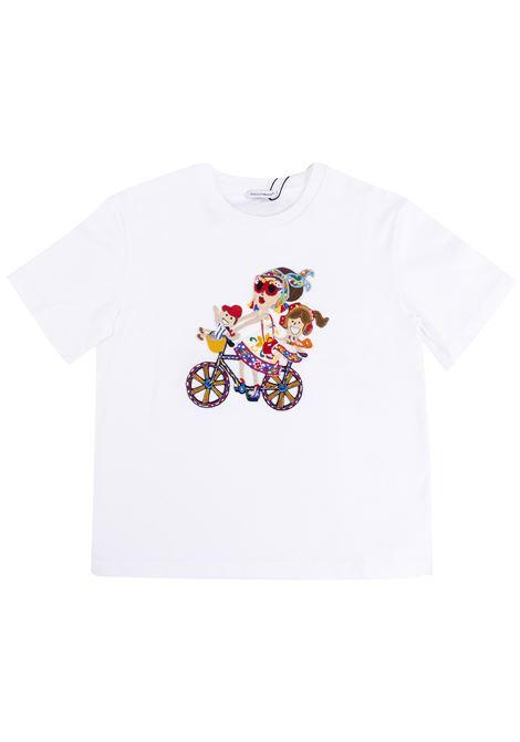 T-shirt bambina con applicazione DOLCE & GABBANA KIDS | T-shirt | L5JT5S G7KGXW0800