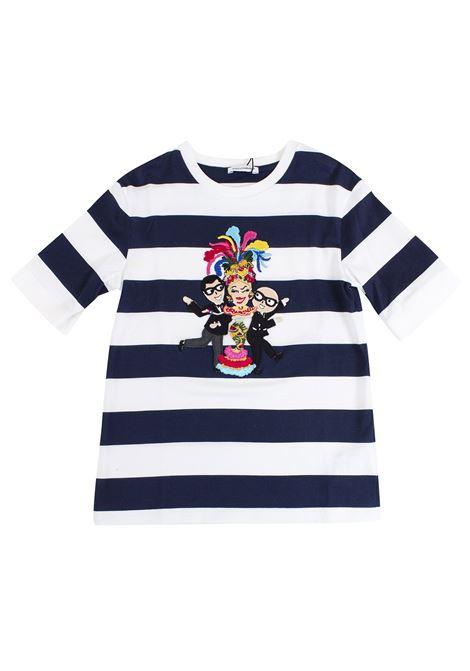 T-shirt bambina a righe DOLCE & GABBANA KIDS | T-shirt | L5JT6Z G7KJUHW739