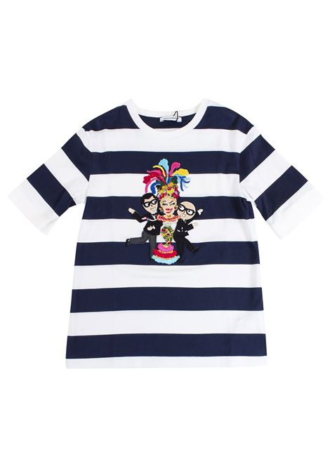 Striped girl t-shirt DOLCE & GABBANA KIDS | T-shirt | L5JT6Z G7KJUHW739