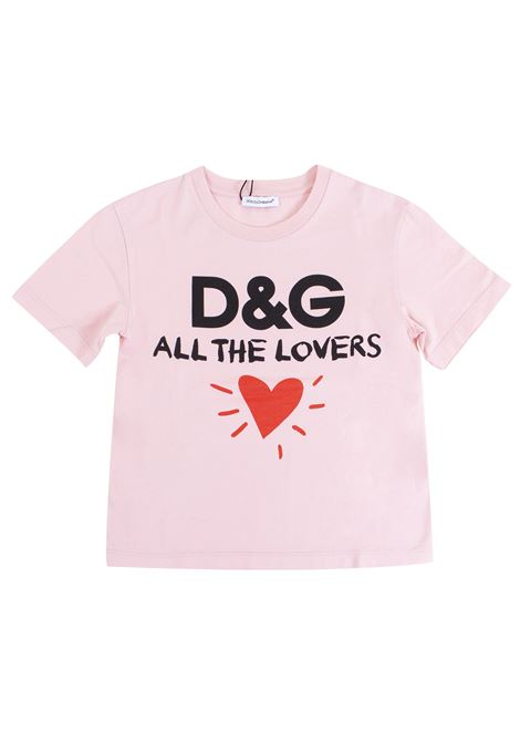 Girl print t-shirt DOLCE & GABBANA KIDS | T-shirt | L5JT9P G7NLPHFPII