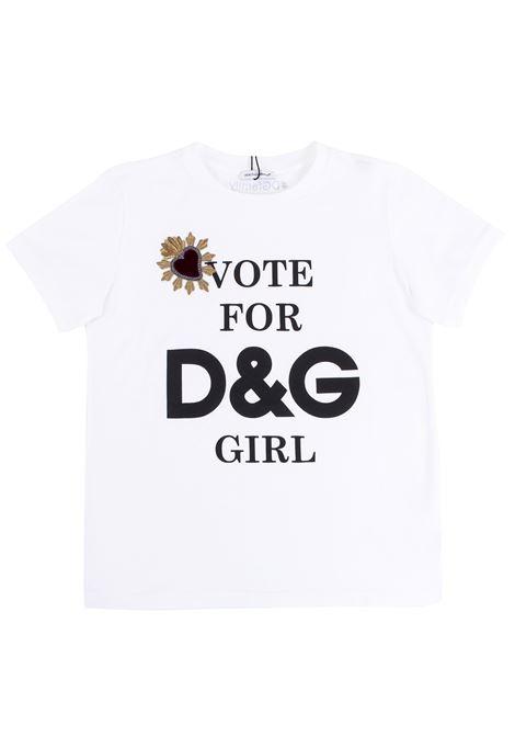 Girl t-shirt with application DOLCE & GABBANA KIDS | T-shirt | L5JTAD G7MXMHAM16