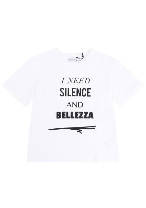 T-shirt bambina con stampa DOLCE & GABBANA KIDS | T-shirt | L5JTP9 G7NLOHW082