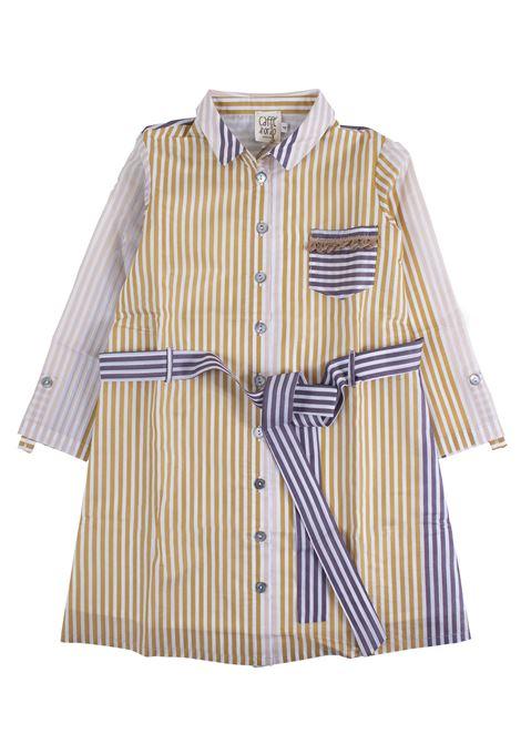Vestito a righe con pannelli a contrasto CAFFE' D'ORZO | Abiti | ANCILLA03