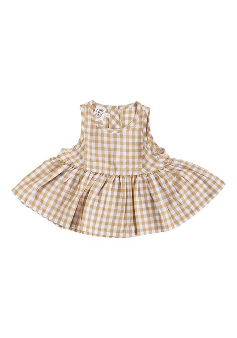 Checkered baby girl top CAFFE' D'ORZO | Top | ROSSELLA10